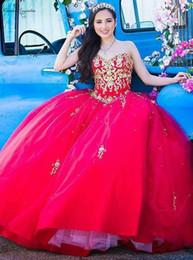 quinceanera kurze kleider pink Rabatt Rote Quinceanera Kleider 2019 Ballkleider SpitzeAppliques Kristall-Schatz schnüren sich oben Geburtstags-Party-Kleid des Bonbon-16-Kleid plus Größe