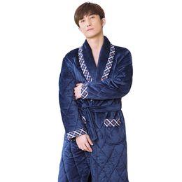 JQ peignoir homme inverno roupao de banho caldo szlafrok uomini di alta qualità accappatoio bademantel herren pigiama di marca maschio veste da case di foglie di acero fornitori
