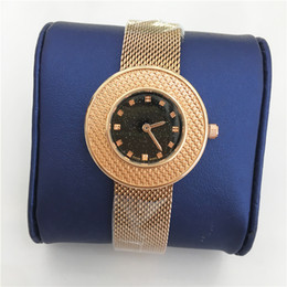 new fashion girls gold bracelet Promo Codes - Hot sale Women watches luxury Lady quartz Thin Mesh belt watches Lady Bracelet clock Gift for girls drop shipping high quality Nice beauty