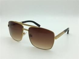 15 fotogrammi online-uomini Z0256U moda occhiali da sole classici atteggiamento occhiali da sole oro cornice metallo cornice quadrata stile vintage design esterno modello classico 61-15