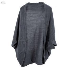 dreiviertel-ärmel-strickoberteil Rabatt Mode der neuen Frauen Batwing Top Sleeve Kapwolljacke Dreiviertel Knit Strickwaren-Tropfen-Verschiffen gute Qualität