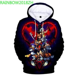 girls wearing hoodie Promo Codes - 2019 New Spring and Autumn Fashion Kingdom Heart 3D Digital Printing Men's Hoodie Couple Casual Wear Girls Street Pack