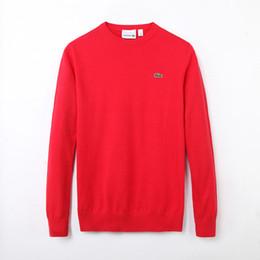 Standardnadelgröße online-Weihnachten Größe M-XXL Neue Hochwertige Polo Männer Twisted Needle Sweater Gestrickte Baumwolle V-Ausschnitt Pullover Pullover Pullover männlich