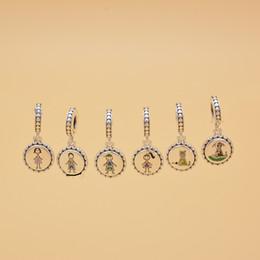 meninos pulseiras de prata Desconto Família Prata Vara Figura Encantos incluem Mãe Menino Menina Animal Fit Pulseiras Estilo Europeu Colar Mulher Jóias TTA993