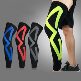 2019 рукава для ног lycra 1PCS Sports Safety Leg Warmers Breathable Lycra Cycling Running Basketball Calf Compression Leg Knee Pads Sleeves Legwarmers дешево рукава для ног lycra