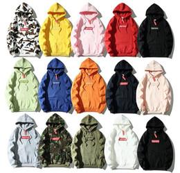 2019 rosa rüsche dessous VEversace SUOberste Mens Marke Designer Box Logo Bestickte Kapuzen Hip Hop Sweatshirt Casual Male Hoodie Winter-Jumper
