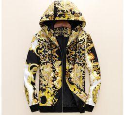 Casaco jaqueta novo on-line-Nova Marca Medusa Versace jacket Zipper Jacket dos homens 3D Impressão Jacquard Cap Jacket Elastic Cuffs Design de luxo Leve casaco top
