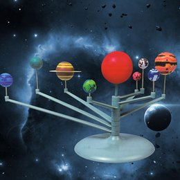 modelli del sistema solare Sconti DIY Assemble Train Manipulative Ability The Solar System Eight Planets Modello Science Awareness Bambini giocattoli per bambini