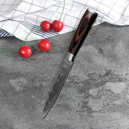 2019 cuchillo cuchilla cocina Cuchillo de cocinero 5 pulgadas Utilidad Cuchillo de cocina de imitación de acero de Damasco Cuchillos de cocina Cuchillo afilado Cuchillos de corte Cuchillo de regalo VT1478 cuchillo cuchilla cocina baratos