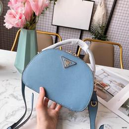 Bolsas azuis brancas on-line-2019 Das Mulheres de Luxo Designer Top Handle Handbags Luz Azul Branco Cinza De Couro Senhora Moda Bolsas de Ombro Vestido Totes Com caixa