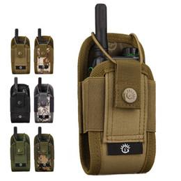 2020 militär radio walkie talkie Military Airsoft taktisches Molle Radio Pouch Walkie Talkie Wasit Tasche Jagd Mag Packs -8 günstig militär radio walkie talkie