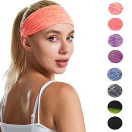 fitness christmas gifts Promo Codes - Women Yoga Sport Headband Polyester Absorb Sweat Running Fitness Hairband Ladies Sport Headwear Girl Party Gift TTA1625