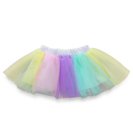 0-9 Years Kids Girls Rainbow Tutu Skirts Princess Tulle Ballet Dance Fancy Dress