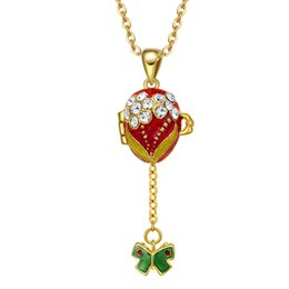 Bijoux en émail à la main peut Ouvrir fleur papillon en laiton cru Vintage oeuf double usage pendentif cristal collier cadeau aux femmes filles ? partir de fabricateur