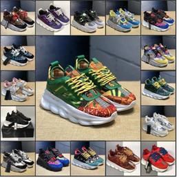 Zapatos de vestir de aire online-2020 zapatos del diseñador de la cadena de reacción de lujo para hombre de las mujeres ocasionales entrenadores medusa de ante negro de vestir de aire zapatillas clásicas zapatillas de deporte 36-45