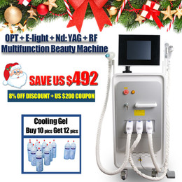laser for fat reduction Promo Codes - Beauty salon equipment nd yag laser tatoo removal machine for sale OPT SHR hair removal E-light acne therapy RF fat reduction device