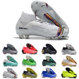 Sapatos de futebol de vapores on-line-2019 sapatos de futebol homens Fúria CR7 mercurial vapores XII Elite FG grampos do futebol ao ar livre botas de futebol mercurial Superfly VI 360 Elite CR7 SE FG