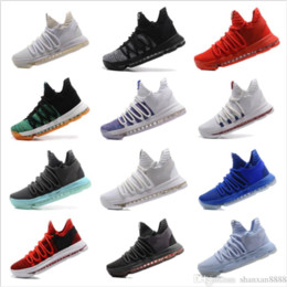 07503946662d09 2018 KD 10 X Oreo Still Zoom KD10 Anniversary Men top Shoes White Red Black  High Quality Kevin Durant 10 Athletic Shoes Size40-46
