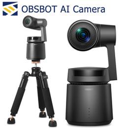 Obsbot AI Câmera de Vídeo CMOS Sensor inteligente Composição e Gesto lente Controle Lens auto fechamento Zoom Inteligente O sistema de rastreamento Digital Esporte V de Fornecedores de telas grandes barato