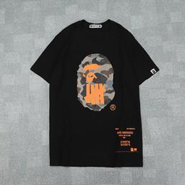 2019 juegos de chica americana Verano Hombres Mujeres Negro Blanco Naranja Camo Impreso Cuello redondo camiseta de los hombres floja ocasional manga corta camisetas