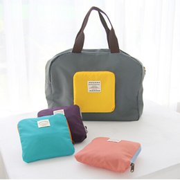 wholesale shoe shops Promo Codes - Folding Travel Storage Bag 4 Colors Large Capacity Shoulder Shopping Bag Waterproof Underwear Shoes Clothing Storage Bag BH1661 ZX