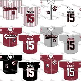carolina gamecocks Rebajas Custom South Carolina Gamecocks Béisbol Jersey Mujeres Jóvenes Hombres Blanco Todos los Jerseys de Béisbol Cosidos Envío Gratis Rápido