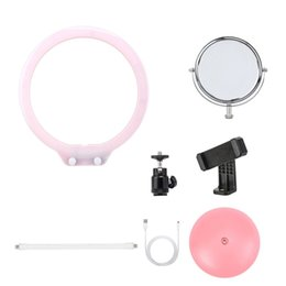 mirrored ball light Coupons - 5pcs Set ONLENY Photography Lamp Desk LED Ring Light Dimmable Makeup Light with Mirror Camera Ball Head for Photo Studio Video
