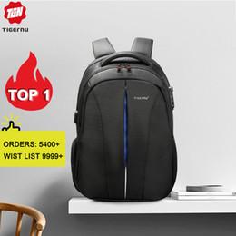 2019 bolsas tigernu Tigernu Splashproof 15.6inch Laptop Backpack NO Key TSA Anti Theft bagpack Homens mochila de viagem Adolescente Backpack saco masculino desconto bolsas tigernu