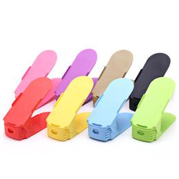 sandalias de acrilico Rebajas Engrosamiento coreano aumento de doble capa estante de almacenamiento creativo clasificación estante del zapato zapato de plástico