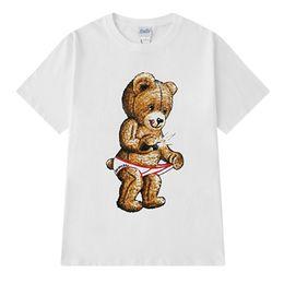 T-shirt imprimé femme en Ligne-Vente chaude New Mens Designer T Shirt Hip Hop Manches Courtes Confortable Hommes Femmes De Bande Dessinée Imprimer T-shirt Taille S-3XL