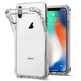 Per iPhone X XS MAX XR 7 8 Custodia in TPU trasparente Assorbimento degli urti Protettiva Cover posteriore trasparente morbida per Samsung S9 S10 Plus S10e Huawei P20 da copertine posteriori huawei fornitori