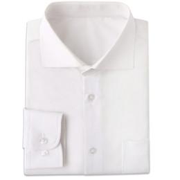 2019 homens brancos feitos sob encomenda da camisa de vestido Rugas resistentes branco dos homens Camisas de vestido Custom Made Slim Fit Men manga comprida vestido de camisa Blanche Chemise Homme Manche Longue homens brancos feitos sob encomenda da camisa de vestido barato