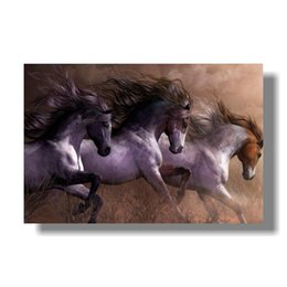 framed horse prints Promo Codes - Modern Animals horse Poster Print Nordic Living Room Wall Art Picture Home Decor Galloping poster No Frame