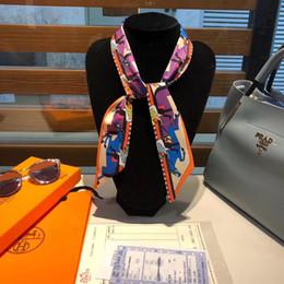 Alças de proa on-line-Designer H marca 100% de seda de alta qualidade fio fita cachecol Twilley saco lidar com pequeno lenço de seda gravata borboleta pequena Europa e América bandanas