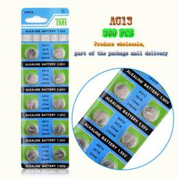 300 PCS Fabbrica diretto all'ingrosso AG13 1.55V LR44 L1154 RW82 RW42 SR1154 batteria del tasto per Watch giocattolo di controllo remoto e Altro Moneta della batteria da