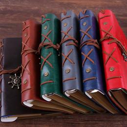 Japanische notizbücher online-Japanisch und Koreanisch Tagebuch Bücher kreatives Briefpapier Retro Pirate Notizblöcke Reisetagebuch Lose-Blatt-Notebook Handkonto T2I5423