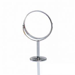 Canada Double Face Dressing Mirror 360 Degrés Tournant Portable Petit Maquillage Cosmétique Miroir Argent Rond Magnifié Make Up Outil Offre