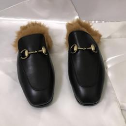 2019 couro de chi Quan chi-hsien é o mesmo tipo de cavalo - realizada de pele de canguru chinelos de couro das mulheres sapatos baixos muller sapatos couro de chi barato
