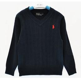 il commercio all'ingrosso del cardigan dell'increspatura delle ragazze Sconti Moda bambini di marca maglione per bambini di alta qualità primavera / autunno scuola ragazzi e ragazze bambini POLO tuta sportiva maglioni
