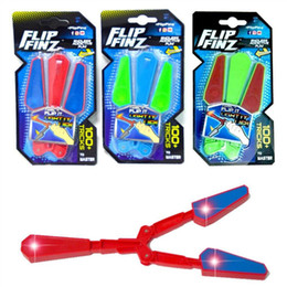 lampeggiante tasto di ricerca leggera Sconti Mano Led Fidget Flip Finz Leggiatore di stress Light Up Butterfly Flipper Novità Toy Tducational Toy