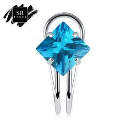 SR: FINEJ 2018 nouvelle mode clip boucles d'oreilles pour les femmes de mariage argent plaqué brincos 10 couleurs cristal clip sur boucles d'oreilles ? partir de fabricateur