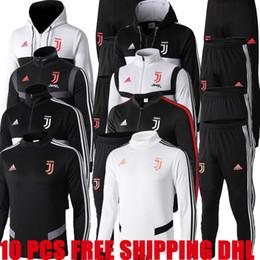 Kits de formation de football en Ligne-nouvelle formation de veste de football de la Juventus 19 20 2019 2020 kit de vestes RONALDO DYBALA juve fermeture à glissière complète veste de football chandail survêtement