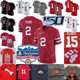 camiseta estatal de ohio personalizada Rebajas Encargo de Ohio State Buckeyes del jersey del fútbol Fiesta Bowl universidad de OSU Los campos joven Dobbins Olave Teague III Colina Mack George Wilson Mujeres Jóvenes