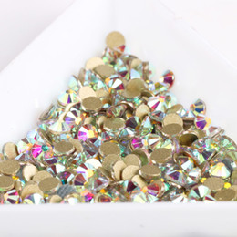 1440pcs / pack Or Plat Dos Strass Cristal 3d Ongles Cristal Diy Diamant Brillant Sequin Brillant Outils De Décoration ? partir de fabricateur