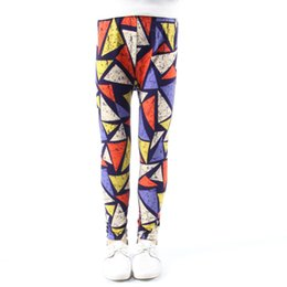 Collant online-Leggings per bambina Spotted Flower Colore Traspirante Pantaloni per bambini Fascia di gomma a vita media anti zanzara Dolci per bambini Pantalone Pantaloni 45