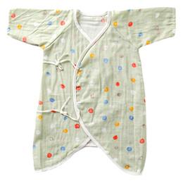 Algodão orgânico roupas recém-nascido on-line-Bebê Muslin Macacão recém-nascidos Meninos Meninas finas Rompers Verão Unissex Organic algodão macio Suba Roupa Romper