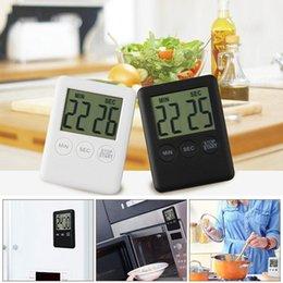 Temporizador de cuenta regresiva para cocinar online-Dropshipping Recordatorio de temporizador digital Alarma LCD Reloj de cocina Cocina Cuenta atrás grande en voz alta