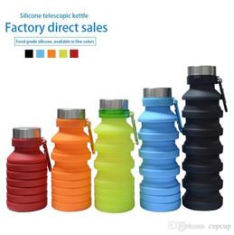 2019 bottiglie d'acqua a forma di animale 550ML 19 once bottiglia di acqua portatile a scomparsa in silicone pieghevole pieghevole Caffè Acqua potabile bottiglia di corsa bottiglia tazze delle tazze BPA