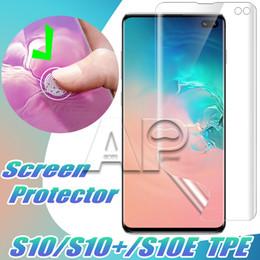 Canada Pour Samsung Galaxy S10 S10 Plus S10E S9 Note 9 S8 Plus Couverture Complète Incurvée Haute Transparent Protecteur D'écran Avant Films de Protection souple cheap cover front Offre