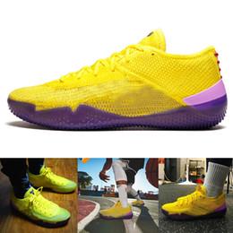 best cheap 4be44 0b808 2019 Kobe 360 AD NXT Gelb Orange Streik Derozan Basketballschuhe Günstige  AAA + Qualität Herren Trainer Wolf Grey Purple Sneakers Größe 7-12 gelbe ...